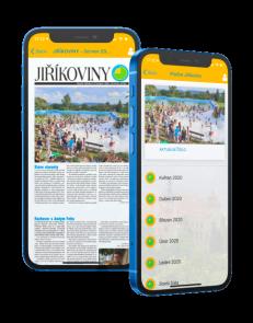 Dekorační obrázek - mobilní telefon se spuštěnou aplikací