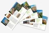 Fotografie turistických brožur z Horního Jiřetína a Černic