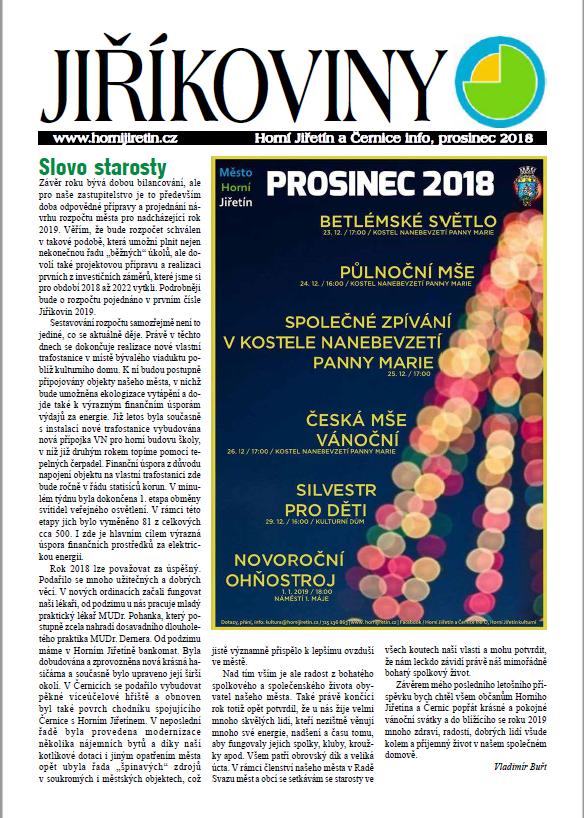 PROSINEC Jiříkoviny 2018
